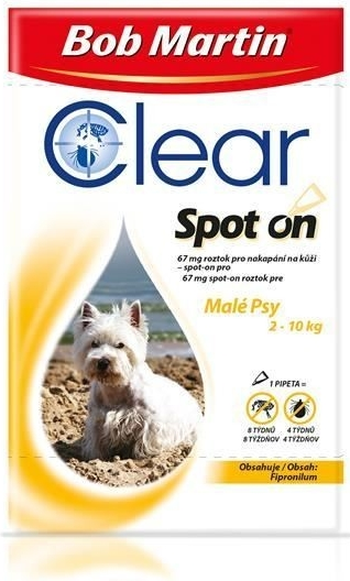 Bob Martin Clear spot on DOG S 67mg a.u.v. sol 1x 0,67ml (pipeta)
