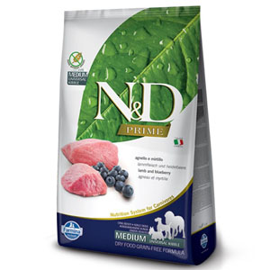 N&D PRIME DOG Adult Lamb & Blueberry 2,5kg