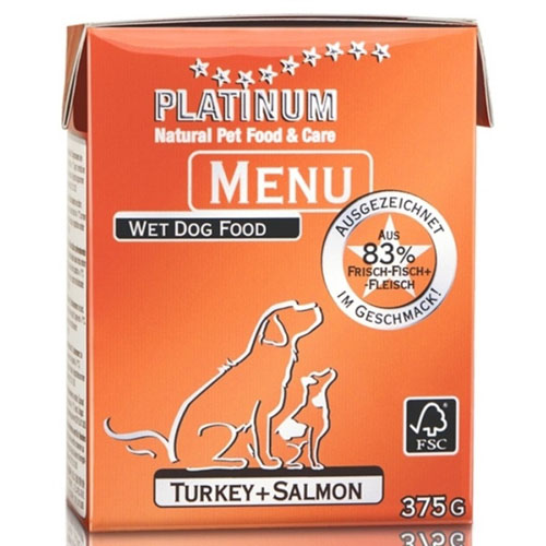 Platinum Natural Menu - krocan + losos 375g