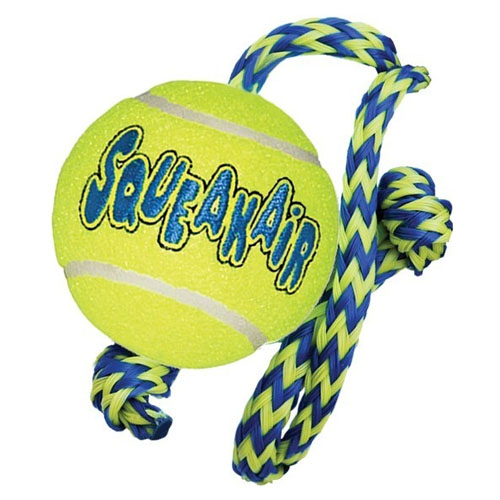 Kong Air Dog tenis míč na šňůrce medium 6cm/45cm