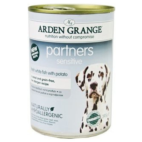 Arden Grange Partners Sensitive Fresh White Fish with Potato 395g