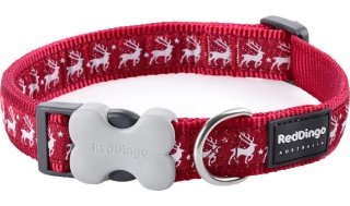 Obojek Red Dingo Reindeer 24-37cm/15mm