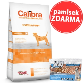 Calibra Dog HA Starter & Puppy Lamb 14kg + pamlsek ZDARMA