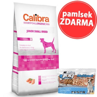 Calibra Dog HA Junior Small Breed Chicken 7kg + pamlsek ZDARMA