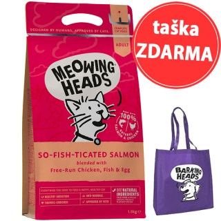 MEOWING HEADS So-fish-ticated Salmon 1,5kg + taška ZDARMA