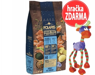 Polaris GF Adult All Breed losos, krůta 12 kg + hračka ZDARMA