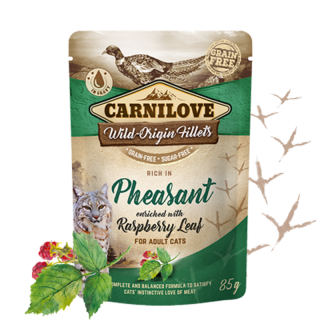 Carnilove Cat Pouch Pheasant & Raspberry Leaves 85 g