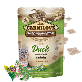 Carnilove Cat Pouch Duck Enriched & Catnip 85 g