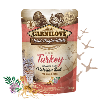 Carnilove Cat Pouch Turkey Enriched & Valerian 85 g