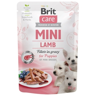 Brit Care Dog Mini Puppy Lamb fillets in gravy 85 g