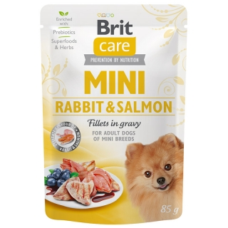 Brit Care Dog Mini Rabbit&Salmon fillets in gravy 85 g