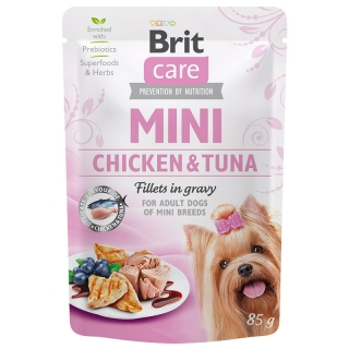 Brit Care Dog Mini Chicken&Tuna fillets in gravy 85 g