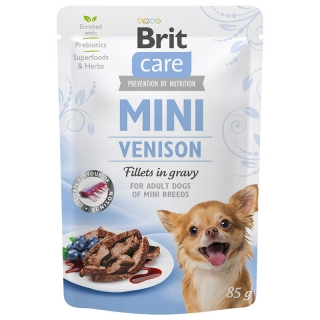 Brit Care Dog Mini Venison fillets in gravy 85 g