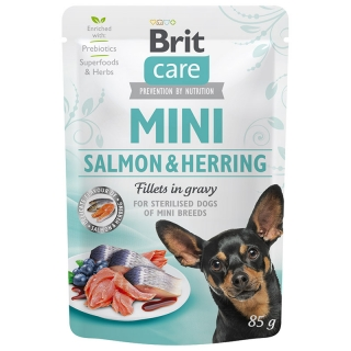 Brit Care Dog Mini Salmon&Herring steril fillets 85 g