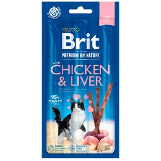 Brit Premium Cat by Nature Sticks Chicken & Liver 3 ks