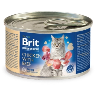 Brit Premium Cat by Nature konzerva Chicken & Beef 200 g