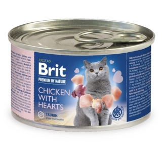 Brit Premium Cat by Nature konzerva Chicken & Hearts 200 g