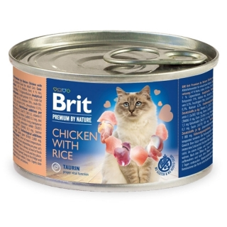 Brit Premium Cat by Nature konzerva Chicken & Rice 200 g