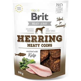 Brit Jerky Herring Meaty Coins 80 g