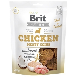 Brit Jerky Chicken with Insect Meaty Coins 200 g
